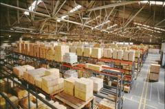 Storage products in a bonded warehouse